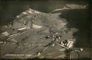 Ansichtskarte Rehefeld-Altenberg (Erzgebirge) Luftbild aus großer Höhe 1928