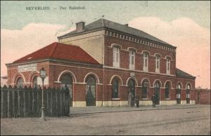 Postkaart Beverlo-Beringen Beverloo Berringe Bahnhof Straße 1912