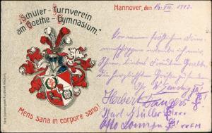 Hannover Schüler Turnverein Goethe Gymnasium Heraldik Studentika 1913