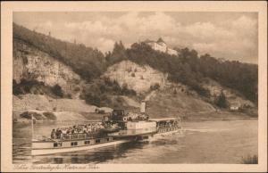 Ansichtskarte Höxter (Weser) Schloß Fürstenberg - Dampfer 1928