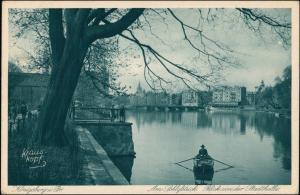Königsberg (Ostpreußen) Калининград Am Schloßteich Blick von der Stadthalle 1932