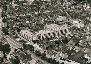 Reutlingen Luftbild Überflug Zentrum Rathaus Luftaufnahme City 1960