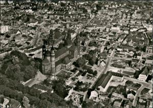 Ansichtskarte Worms Luftbild Überflug Innenstadt Zentrum 1963