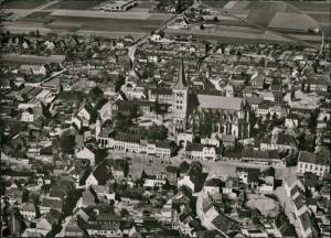 Xanten Luftbild Überflug Zentrum City & Kirche, Luftaufnahme 1960