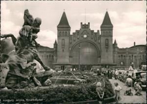 Altona-Hamburg Hauptbahnhof Bahnhof Railway Station, Kinder, Autos 1963