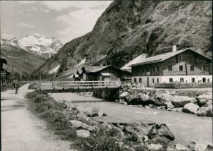 Innergschlöß-Matrei in Osttirol Venedigerhaus Innergschlöß, Alpen Fluss  1960