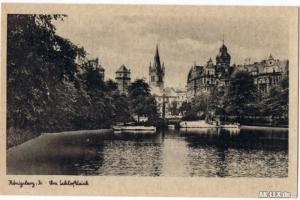 Königsberg (Ostpreußen) Калининград Am Schloßteich 1940