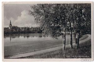 Postcard Tilsit Советск Am Schlossmühlenteich 1944