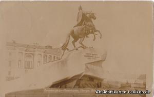 Sankt Petersburg Leningrad Санкт-Петербург Denkmal Peter des Großen 1932
