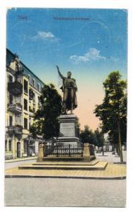 Tilsit Советск Straßenpartie am Schenkendorf-Denkmal 1929