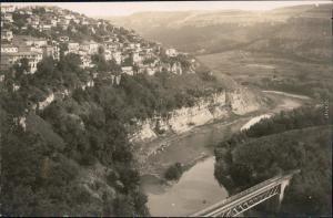 Weliko Tarnowo Велико Търново Blick auf Stadt und Fluss 1928