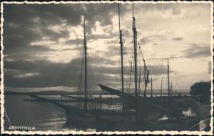 Crikvenica Cirquenizza Partie im Hafen  - Segelboote Primorje-Gorski kotar 1939