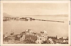 Split Split Hafeneinfahrt und Panorama 1930