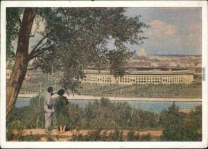 Moskau Москва́ Москва - Вид с Ленинских гор    Olympiastadion Luschniki 1965
