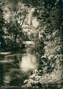 Postcard Glatz Kłodzko Am Mühlgraben 1938