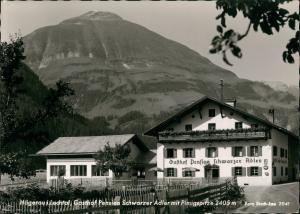 Ansichtskarte Hägerau Gasthof Pension Schwarzer Adler mit Pimigspitze 1964