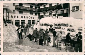 Hochsölden Eis Bar Berghotel Hochsölden Personen a.d. Bar 1955