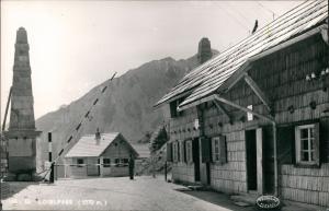 Postcard Bled Veldes Loiblpass Grenze Grenzstein Grenzhütte 1958