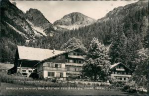 Ramsau am Dachstein Gasthof Feisterer gege. Sinabel Alpen Panorama 1960
