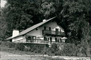 Litzlberg Partie am Haus Waynay Unterkunftshaus mit Terrasse 1960