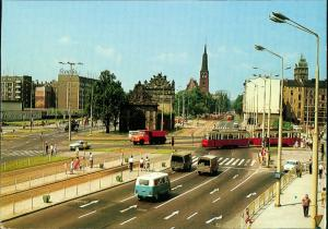 Postcard Stettin Szczecin Berliner Tor/Brama Portowa 1976