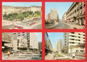 Postcard Warschau Warszawa Stadtteilansichten 1973