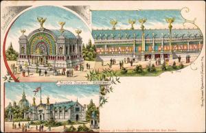 Litho AK Brüssel Bruxelles Exposition de Bruxelles 1897 MB Pavillon 1897