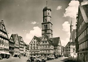 Ansichtskarte Biberach an der Riß Marktplatz VW Käfer Beetle 1963
