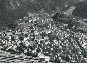 Ansichtskarte Chur Luftbild - Bahnhof 1964