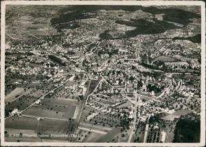 Ansichtskarte Frauenfeld Luftbild aus großer Höhe 1949