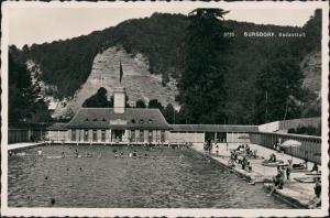 Ansichtskarte Burgdorf BE Schwimmbad 1940