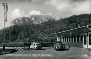 Ansichtskarte Nassfeld Grenze Italien Österreich VW Käfer 1966