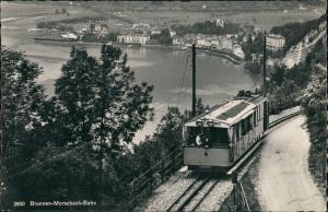 Ansichtskarte Brunnen SZ-Ingenbohl Brunnen-Morschach-Bahn 1965