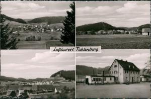 Ansichtskarte Fichtenberg 4 Bild: Stadt, Bahnhof 1958