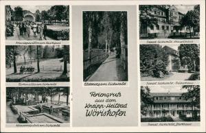 Ansichtskarte Bad Wörishofen MB: Kuranlagen, Elsterweg 1965