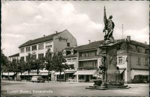 Ansichtskarte Rastatt Kaiserstraße - Geschäfte 1965
