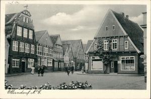 Ansichtskarte Otterndorf Straßenpartie - Geschäft 1955