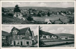 Ansichtskarte Bottendorf (Burgwald) 3 Bild: Stadtansichten 1958