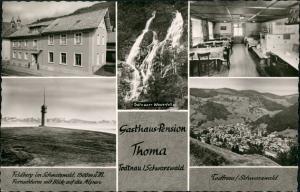 Ansichtskarte Todtnau Gasthaus Pension Thoma 1963