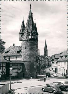 Foto Eschwege Straßenpartie VW Käfer und Bulli 1962 Privatfoto