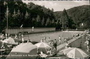 Ansichtskarte Schriesheim Schwimmbad 1961