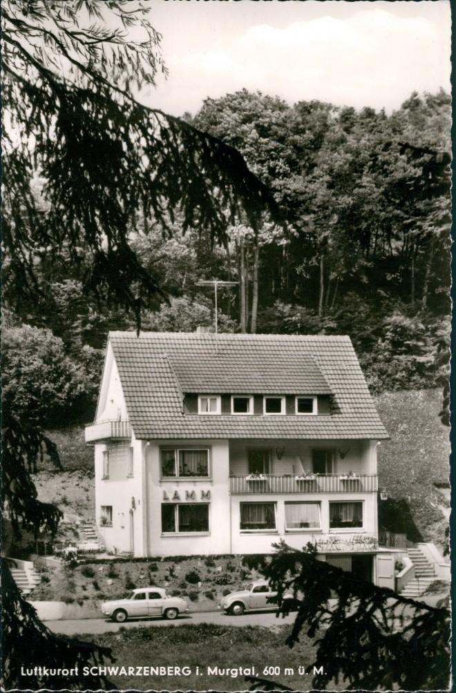 Schwarzenberg mit Schönmünzach-Baiersbronn Gasthof - Pension Lamm Autos 1965 0