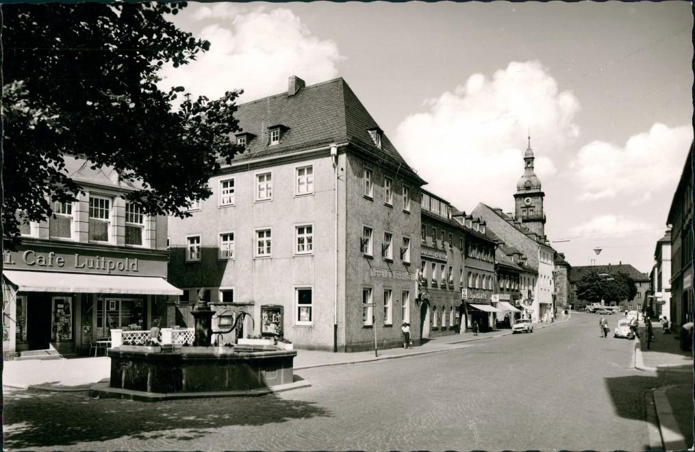 Ansichtskarte Wunsiedel (Fichtelgebirge) Straße - Cafe Luitpold 1963 0