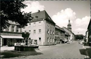 Ansichtskarte Wunsiedel (Fichtelgebirge) Straße - Cafe Luitpold 1963