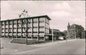 Ansichtskarte Offenbach (Main) Schloß mit Berufsschule 1955