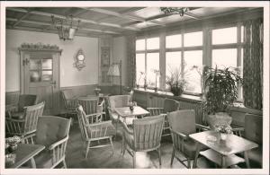 Ansichtskarte St. Märgen Gasthof und Pension zum Hirschen Gaststube 1952