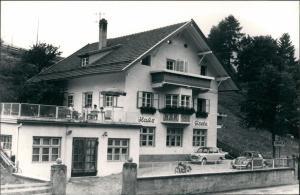 Foto Steinach (Tirol) Gasthaus Gisela VW Käfer 1954 Privatfoto