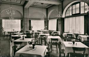 Ansichtskarte Darmstadt HOTEL POST - Saal, am Hauptbahnhof 1957