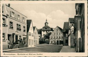 Ansichtskarte Wassertrüdingen Marktplatz - Bierstube 1948
