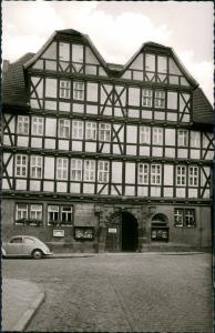 Ansichtskarte Witzenhausen GASTHAUS ZUR KRONE VW Käfer Beetle 1963